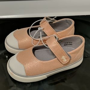 NWOT See Kai Run Emily Rose Gold shimmer shoes 7